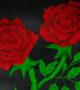 Batea red maque 20 cm detalle flores